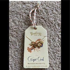 "Spartina 18"" Gold Plated Cape Cod Charm Necklace"
